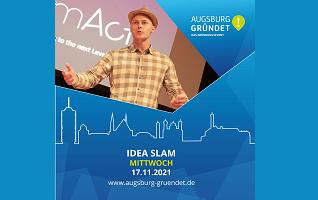 Augsburg gründet! – Idea Slam noch bis 22.09.2021 bewerben und 5000 EUR Preisgeld gewinnen